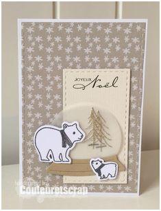 un doux combo… – Couleuretscrap @ Nicole – Best Pins Live Diy Christmas Cards, Fall Cards, Winter Cards, Xmas Cards, Scrapbook Paper Crafts, Scrapbook Supplies, Scrapbook Cards, Scrapbooking Diy, Fancy Fold Cards