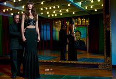 Jessica Biel In Elle US January 2013 wearing Azzedine Alaïa.
