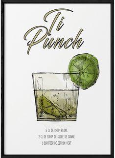Cocktail Punch, Cocktail And Mocktail, Cocktail Recipes, Cocktails Bar, Summer Cocktails, Ti Punch, Bartender, Food And Drink, Alcohol