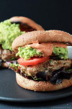 Southwestern Turkey Burgers with Guacamole and Piquillo Pepper Aioli-3