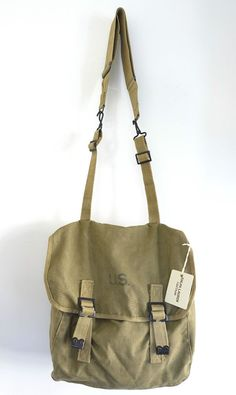 Vintage 1940 S Us Army Backpack Military Tote Bag Mens