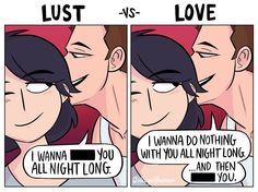 This Lust vs Love Web Comic Shows What Real Love Can Do - Comics from around the Web Long Distance Relationship Memes, Relationship Comics, Funny Relationship Memes, Cute Couple Comics, Cute Comics, Funny Comics, Love And Lust, Love Can, Real Love