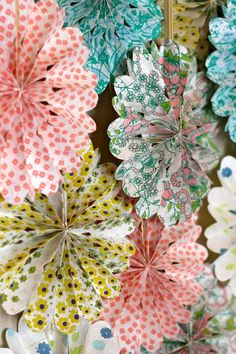 cute decor idea - it would be fun to combine different patterns in wedding colours