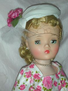 Vintage Madame Alexander Cissy Doll in Rare Day Dress from charlottewebcollectibles on Ruby Lane