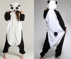 Lounge around chewing bamboo (or something tastier) with this awesome panda onesie! Its so soft and fluffy everyone will be queuing for bear hugs! Made from coral fleece and available in different sizes. Onesie Pajamas, Cute Pajamas, Lazy Day Outfits, Cute Outfits, Panda Costumes, Cute Onesies, Cute Sleepwear, Kawaii Clothes, Trendy Outfits