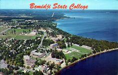 Aerial view, Bemidji State College, Bemidji Minnesota, early 1960's