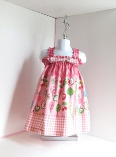 Baby girl dress sz 18mo baby dress pink baby girl by saraannas
