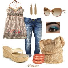fashion, blue, dream closet, summer style, summer outfits, summer cloth, polyvore, wear, thing