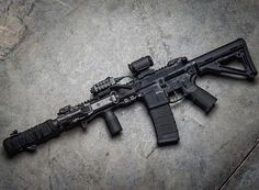 Gun control means being able to hit your target. Military Weapons, Weapons Guns, Airsoft Guns, Guns And Ammo, Military Army, Tactical Rifles, Firearms, Shotguns, Custom Guns