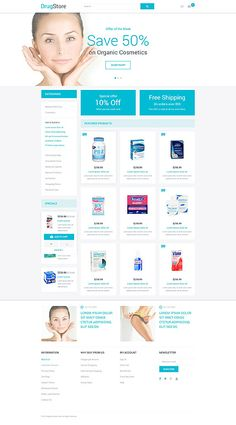Online Drug Store #Magento #template. #themes #business #responsive #webshop