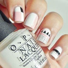 #NailArt - #vernis #OPI - #manucure Nail Art Designs, Cute Easy Nail Designs, Long Nail Designs, Art Nails, Swag Nails, Cute Simple Nails, Lip Tips, Nails Inspiration, Fashion Art