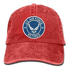 AMAZON  5.17 Boniface3 Us Air Force Retired Unisex Cotton Denim Cowboy Cap  Sports Dad Cap fe973f8b1cd