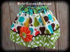 Girls Twirl Skirt Custom..Apples & by BabyLiciousBoutiqu on Etsy, $16.99
