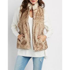 Zip-Up Faux Fur Vest