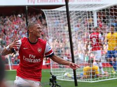 It's 1-0 at the Emirates after Keiran Gibbs' cross is diverted into his own net by Jos Hooiveld.
