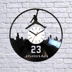 Air Jordan vinyl clockJordan vinyl clockMichael by Artzavodstudio