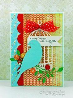 poppystamps serene bird die | Details about SERENE BIRD - Poppystamps Dies by Memory Box Cutting ...