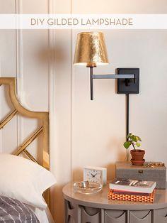 Make It: Gold-leaf Lamp Shade » Curbly   DIY Design Community