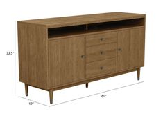 Shop Ethan Allen's Grifton buffet for a sleek, sophisticated mid-century modern buffet with style and utility to store anything from linens to flatware. Dining Room Storage, Dining Room Furniture, Buffet Cabinet, Sideboard, Mid Century Buffet, Decatur House, Modern Buffet, Ethan Allen, Home Decor
