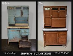 Wonderful Hoosier Cabinet Restoration   Before U0026 After By Irwinu0027s Furniture  Restoration In Phoenix, AZ.