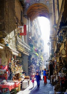 The markets of Spacca Napoli in Naples, Italy