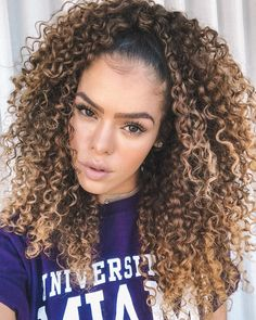 Dyed Curly Hair, Curly Hair With Bangs, Colored Curly Hair, Curly Hair Tips, Short Curly Hair, Curly Hair Styles, Natural Hair Styles, Long Hair, Hair Dye