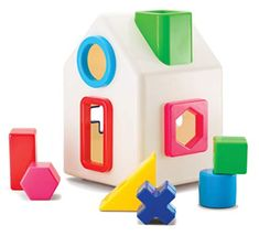 A play home with a reflective mirrored front door is both a shape and color sorter for young minds. match the forms to assemble windows doors and chimney. Kid O Sort & Shape Sorting House - Classic Sorter First Birthday Gifts, First Birthdays, Toddler Toys, Kids Toys, Cool Mom Picks, Teaching Colors, Stacking Toys, Developmental Toys, Educational Toys