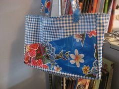 Oil Cloth Bag. (I love the outside pockets)