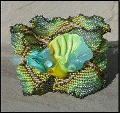 Ruffled Ndebele cuff