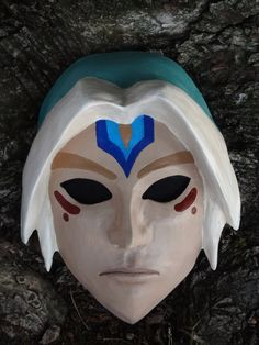 Inspired by The Legend of Zelda: Majoras Mask, this is the Fierce Deity mask made from cast plastic with fabric blocking out the eyes so the wearer Cosplay Diy, Halloween Cosplay, Deku Mask, Zelda Sword, Plastic Cast, Master Sword, Traditional Japanese Art, Game Costumes, Legend Of Zelda