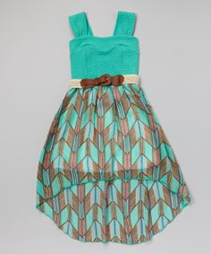 Mint Chevron Belted Hi-Low Dress - wish this was in woman's sizes!
