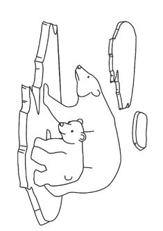 Polar Bear Art Activities School Art and Science Activity . Winter Crafts For Kids, Winter Kids, Polar Bear Drawing, Bear Sketch, Artic Animals, Bear Coloring Pages, Cool Paper Crafts, Simple Line Drawings, Bear Pictures