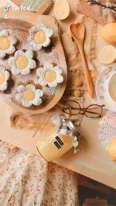 Fun Baking Recipes, Dessert Recipes, Cooking Recipes, Parfait Recipes, Tea Recipes, Cute Food, Yummy Food, Fairy Food, Cute Desserts