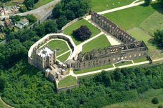 Aerial view of Bolsover Castle