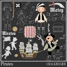 CHALKBOARD PIRATES from Digital PaperCraft on TeachersNotebook.com -  (26 pages)  - CHALKBOARD PIRATES