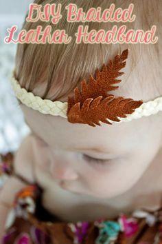 DIY Braided Leather Headband DIY Crafts