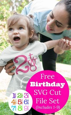 Free Birthday Number SVG Cut File Set for Silhouette Cameo or Cricut Explore