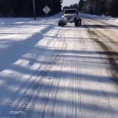 Winter wheeling level: Epic  www.jeepbeef.com  _______ @drawffej #jeepbeef #mattracks #jeep #snow #winter #wheeling #epic #itsajeepthing #snowvember2014 #snowvember #Padgram