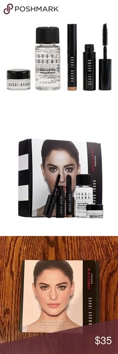 NEW Bobbi Brown Long-Wear Eye Mini Set New! Never opened! Bobbi Brown Golden Pink Long-Wear Eye Set. Sephora Beauty Insider Exclusive.  • Bobbi Brown – Long Wear Cream Shadow Stick in Golden Pink (0.03 oz) • Bobbi Brown – Smokey Eye Mascara (0.1 oz) • Bobbi Brown – Hydrating Eye Cream (0.10 oz) • Bobbi Brown – Instant Long-Wear Makeup Remover (1.0 oz) Bobbi Brown Makeup
