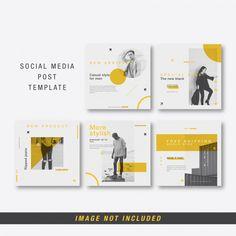 Social Media Post For Digital Marketing Template Social Media Ad, Social Media Banner, Social Media Template, Social Media Design, Social Media Graphics, Instagram Design, Instagram Feed, Web Design, Instagram Post Template
