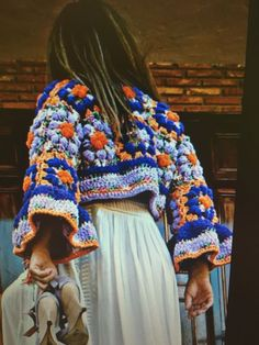 Ideas For Crochet Granny Square Jacket Pattern Inspiration Gilet Crochet, Crochet Coat, Crochet Jacket, Freeform Crochet, Crochet Cardigan, Crochet Granny, Crochet Clothes, Knitwear Fashion, Knit Fashion