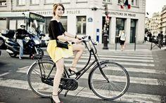 Bicicleta Vintage (Bike Retrô) Preta Look Amarelo
