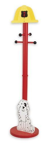 Firefighter Clothes Pole # 76022 by KidKraft. $54.99. Some assembly may be required. Please see product details.. Young boys don't always keep their rooms clean, but our Firefighter Clothes Pole can make keeping things tidy a lot more exciting. This kid-sized clothes pole is fun and will look great in any boy's room. Features include: *Fireman's helmet on top *Dalmatian puppy on base *Teaches the importance of organization *Made of wood *Sturdy construction # 76022