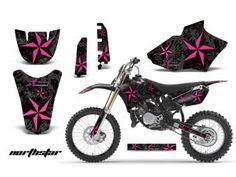 Custom girl Dirt Bike Graphics Yamaha | AMR Racing Northstar Custom Dirt Bike Graphics Kit - 2002-12 Yamaha YZ ...