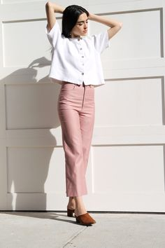 These Dusen Dusen high waist pants are perfect for spring.