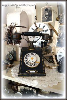 vintage phone - my shabby white home