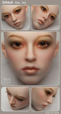 Custom BJD faceup by Invie / Makeup Service by invie on Etsy