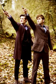 Matt Smith and David Tennant in The Day of the Doctor. @Hallie Thurman You don't even know how excited I am that I get to watch it now! :D I'll bring cupcakes! :)
