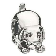 Dog Bead: A small memento to commemorate your best friend and trusted companion. With the Dog bead,… Charm Jewelry, Jewelry Findings, Beaded Jewelry, Beaded Bracelets, Jewellery, Pandora Beads, Pandora Charms, Large Hole Beads, Your Best Friend