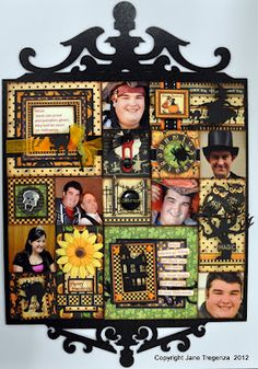 What an amazing Halloween Patchwork by Jane Tregenza using our Happy Haunting's… Scrapbook Box, Scrapbook Journal, Scrapbook Page Layouts, Scrapbooking Ideas, Halloween Party Decor, Halloween Fun, Halloween Designs, Halloween Treats, Altered Boxes